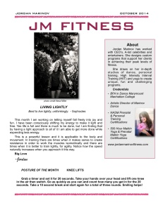 Newsletter Fitness October 2014